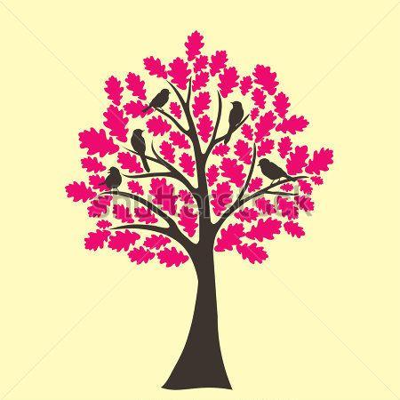 Resumen roble rbol con p jaros en las ramas im genes for Arboles de hoja perenne en galicia