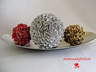 Pasta on pinterest - Manualidades con bolas de navidad ...