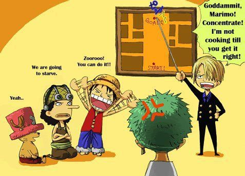 Go on, Zoro!! He really can get lost for just walking straight you know even thought you're actually in front of him