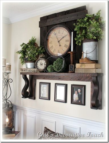add that green plant to your neutrals  {living room, neutral,  mantel}