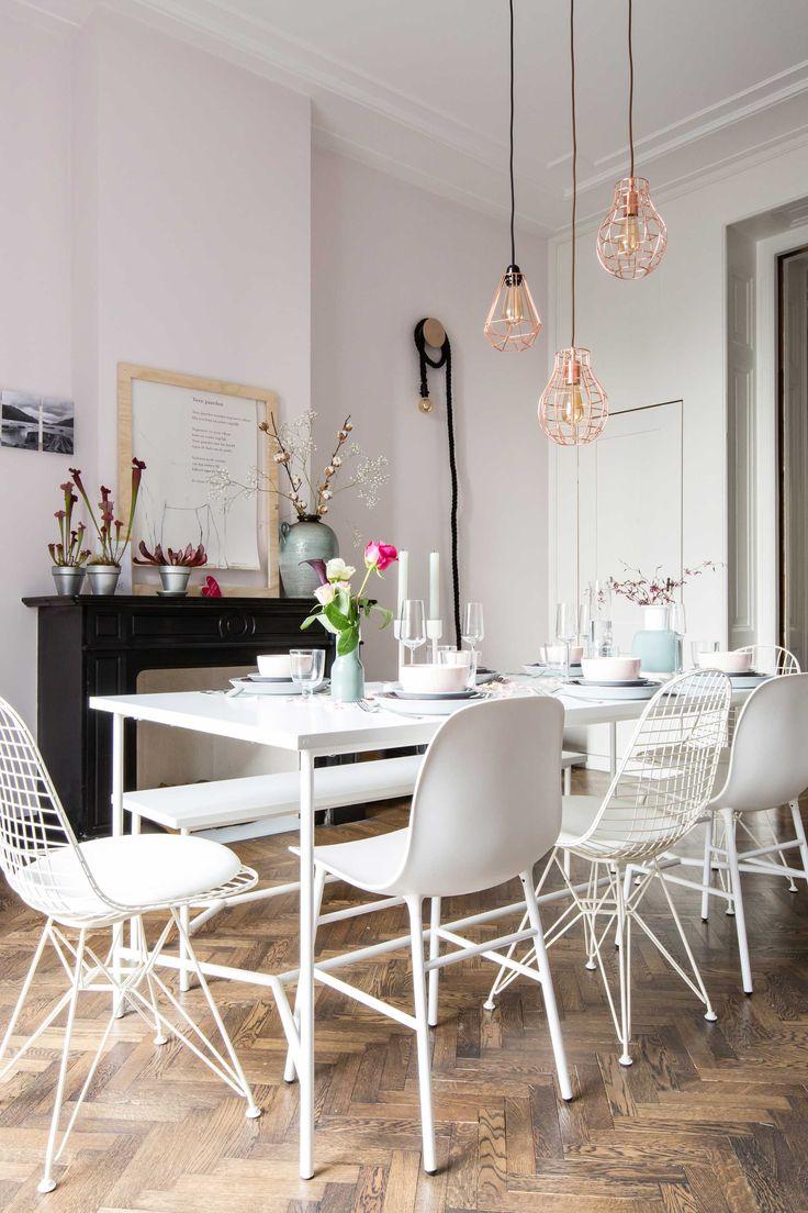 De eetkamer bij Ivar uit aflevering 10, seizoen 3 | Weer verliefd op je huis | Make-over door: Frans Uyterlinde | Fotografie Barbara Kieboom