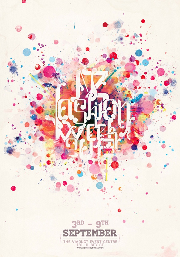 NZ FASHION WEEK TYPOGRAPHY POSTER by Hy Nobi, via Behance