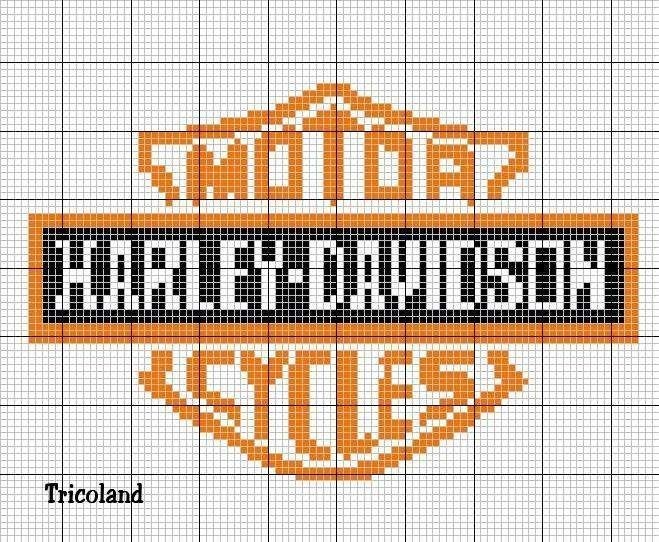 Cross stitch chart for Harley Davidson. Is it the Harley that makes men sexy, the men that make Harleys sexy, or is it that a lot of sexy men ride Harley Davidson?