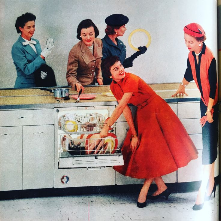 Hotpoint dishwasher ad. Better Homes and Gardens. April 1956.