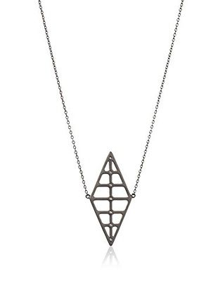 63% OFF Elizabeth and James Ruthenium-Plated Berlin Double Pyramid Pendant