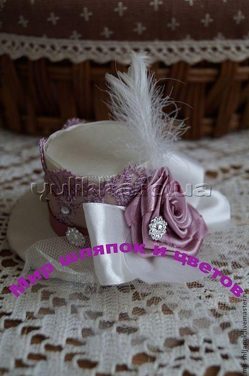 Купить Мини-шляпки, вуалетки - мини-шляпка, цилиндр, шляпка, вуалетка, шляпа женская, фатин