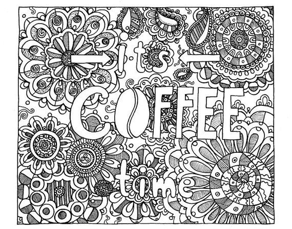 Best 700+ ☕Adult Colouring~Coffee~Tea~Cakes ☕ Images On