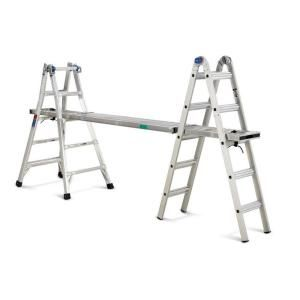 aluminum telescoping ladder with 300 lb load capacity type ia duty the home depot