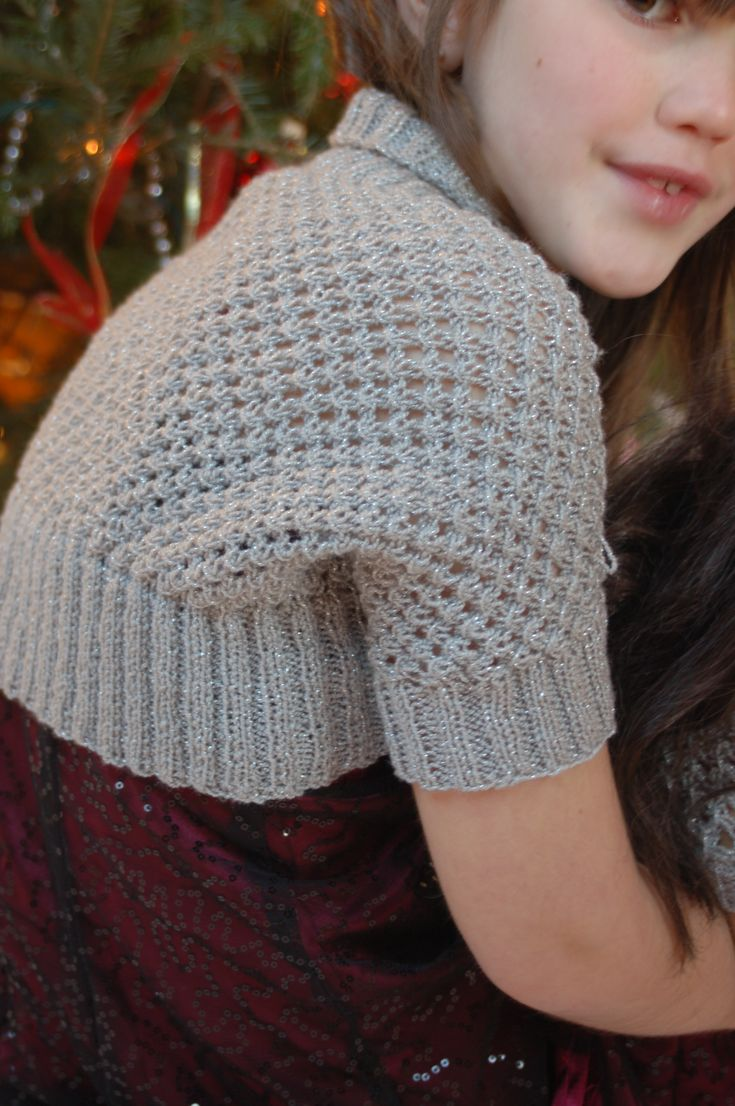 206 best knit4kids bolero images on pinterest boleros baby knitting patterns galore knotted openwork girls shrug with matching american girl size bankloansurffo Image collections