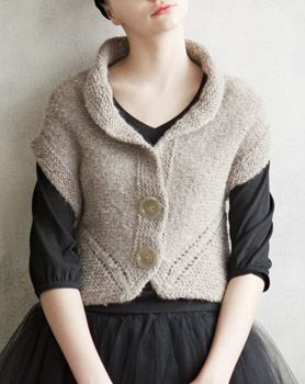Japanese knitting pattern.  The entire book is terrific, but while I'm very capable sewing from Japanese craft books, knitting from one might be a little out of my ability range.