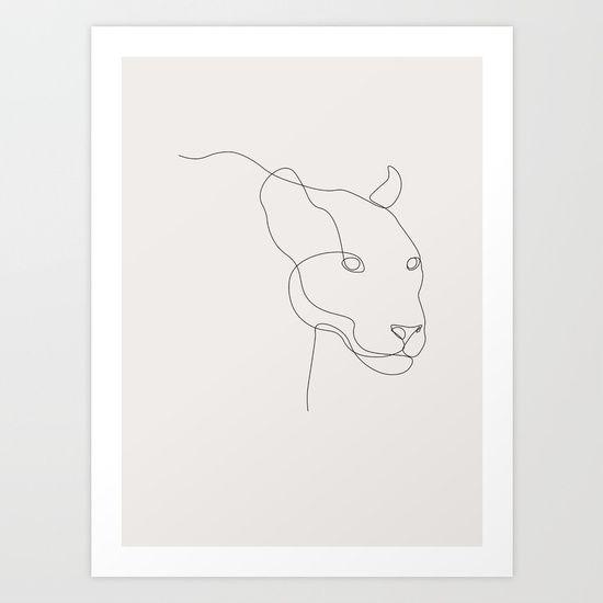 Lioness Art Print by Madebykristine   Society6