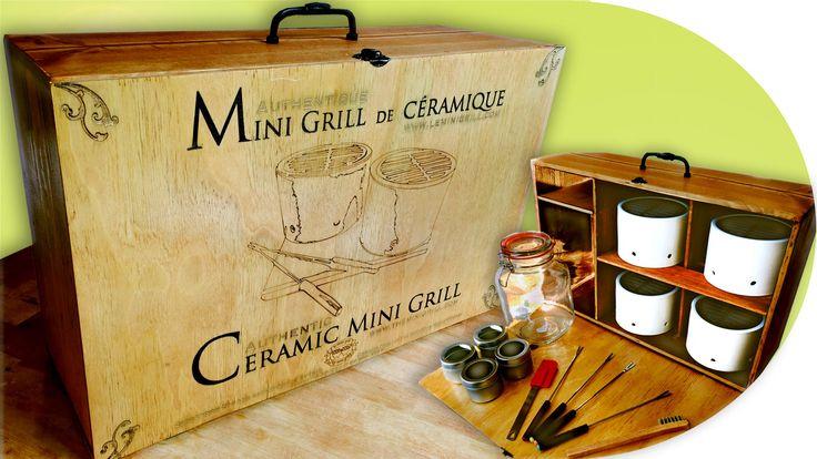 Coffret valise de collection avec 4 Mini Grill et accessoires. Pour achat et détails, suivez le lien.