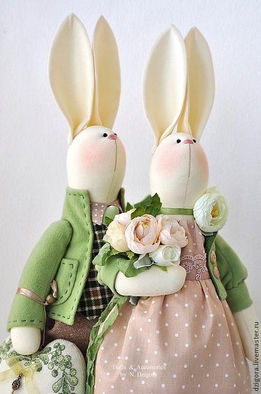 Купить Семейка кроликов весенних - зайцы, кролики, игрушка заяц, игрушка зайка, семейка кроликов