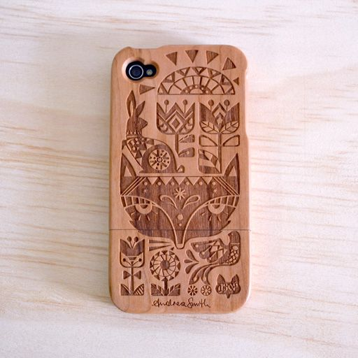 Andrea Smith & A Skulk Of Foxes Hardwood iPhone 4 & 4S Cover