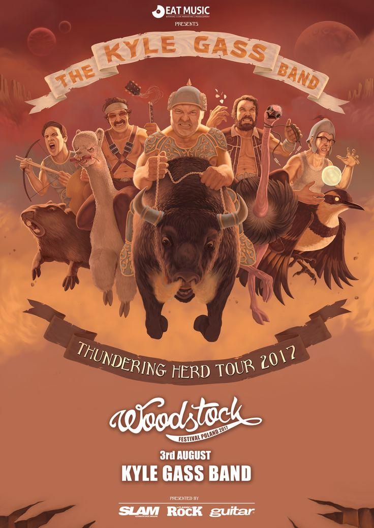Kolejnym zespołem, który wystąpi na 23. Przystanku Woodstock jest The Kyle Gass Band! Muzycy, uzbrojeni w ładunek nowych piosenek wyruszają na trasę po Europie! #woodstock2017 // One half of the best band in the world, and a whole lott'a humour! Kyle Gass Band will surely rock their hearts out at #woodstock2017