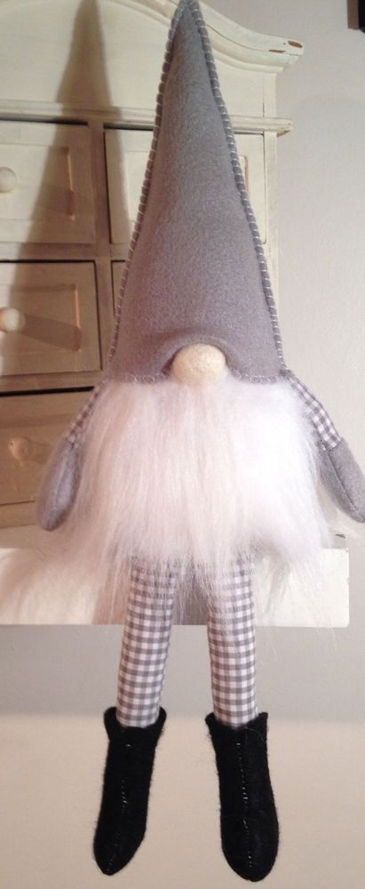 Grey Scandinavian Tomte - Christmas Gnome. Available to buy
