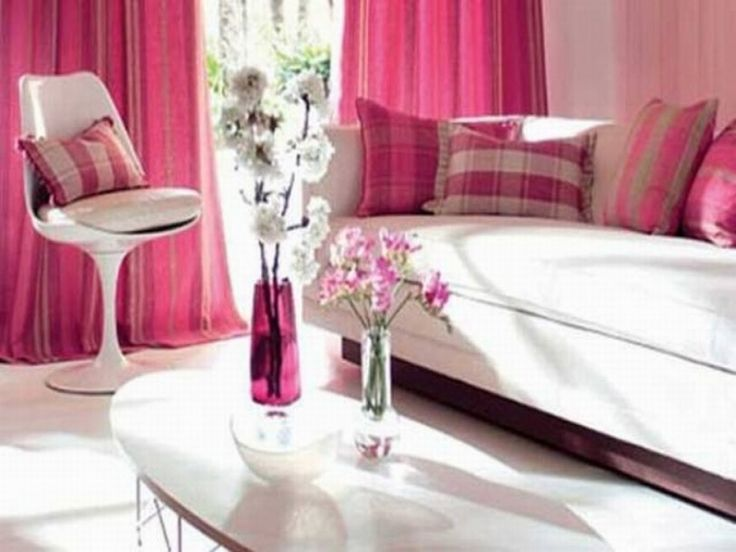 Pink Living Room Design Ideas Sweet Pink Living Room Design With ...