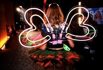 Neon Wings at the Victoria's Secret Fashion Show in NYC <3