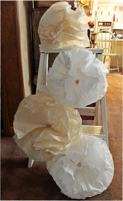 A Southern Belle with Northern Roots: Extra Large Coffee Filter Flowers: Diy Flowers, Southern Belle, Large Coffee, Extra Large, Wedding, Coffee Filter Flowers, Coffee Filters, Craft Ideas