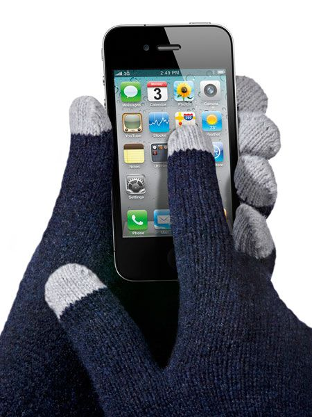 Etre Five Point Gloves: Wool gloves with special tips which let you use your touchscreen. #Gloves #iPhone #Touch_Screen_Gloves #Etre