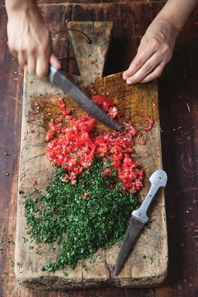 Tabbouleh  Cinnamon and allspice add distinctive flavors to this version of the classic Middle Eastern parsley salad.: Parsley Salad, Middle Eastern, Cuttingboard, Food, Tabbouleh Recipe, Favorite Recipes, Classic Middle