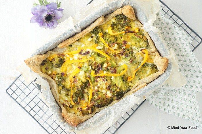 Quiche met broccoli, venkel en hüttenkäse - Mind Your Feed