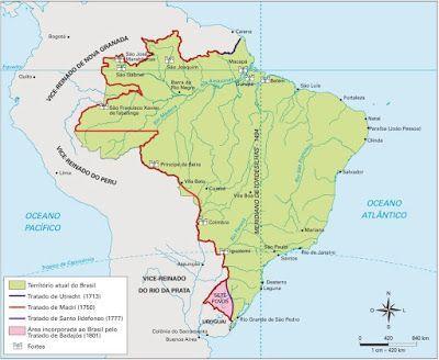 Rio de Janeiro - Conheça seu Estado (História e Geografia): História dos tratados de limites que estabeleceram...