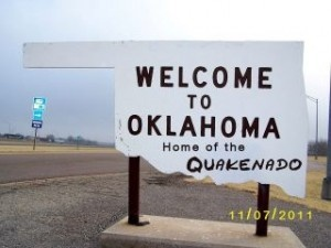 """CAKE! """"In honor of all of the crazy earthquakes and tornados we have been having this week in Oklahoma, I have created the Quakanado Cake!"""""""