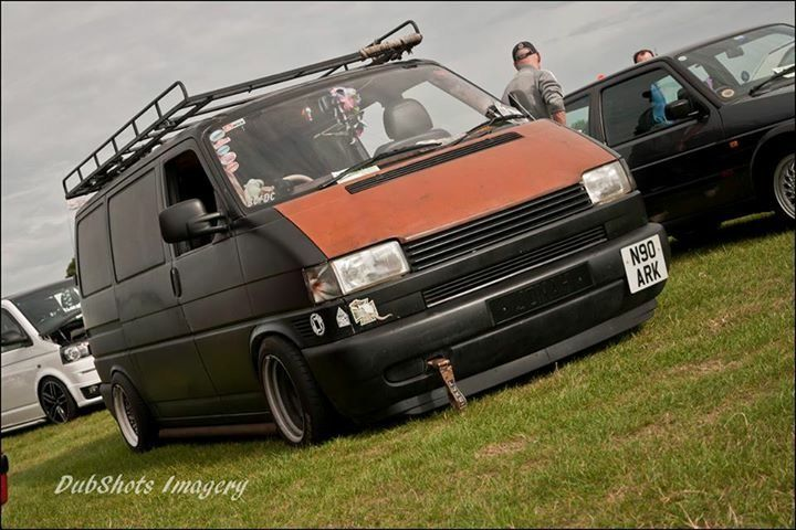 Vw T4 notched and low - matte black
