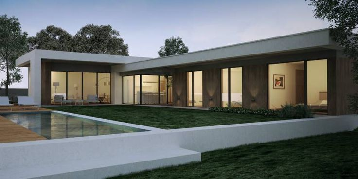 casas modernas de una planta - Buscar con Google