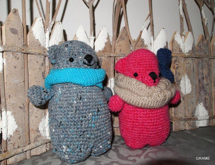 Ours polaires frileux, Léopoldo, Amour Fou, amigurumi, crochet, diy, grame