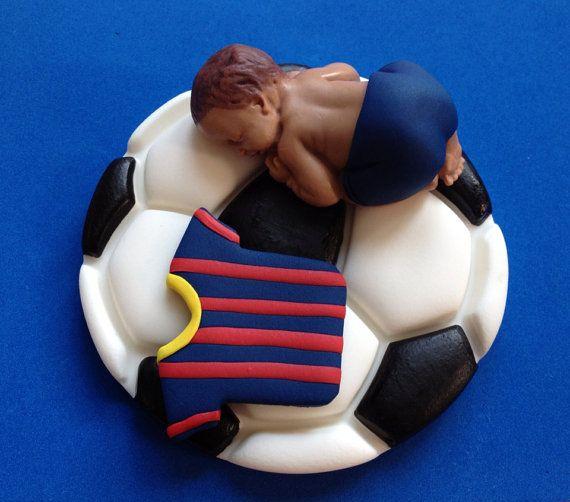 Fondente bambino Barcellona calcio sport per torte battesimo