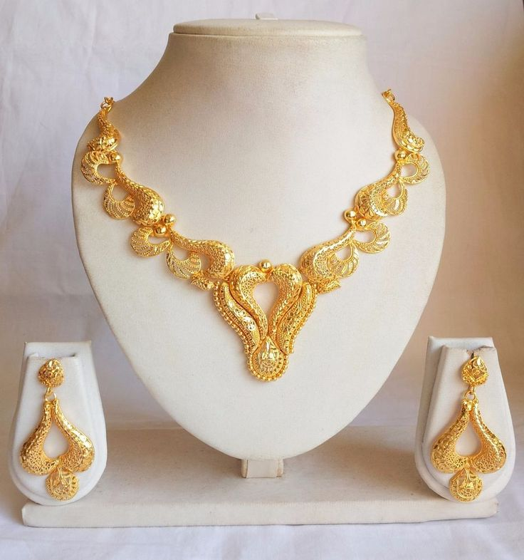 Indian Bollywood Ethnic Jewelry Gold Plated Diamante Necklace Earring Set | Jewelry & Watches, Ethnic, Regional & Tribal, Asian & East Indian | eBay!