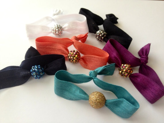 My favorite Etsy shop!! Bauble Hippie Hair Ties Bracelets Choose your color by emmaflhair, $8.00