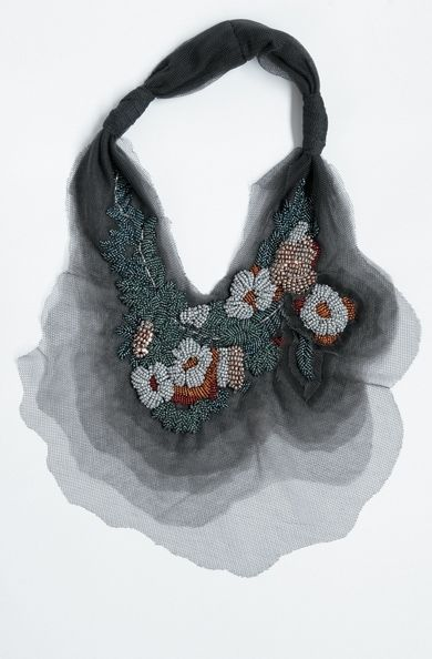 Amazing tulle and bead necklace. By Akira Isogawa.