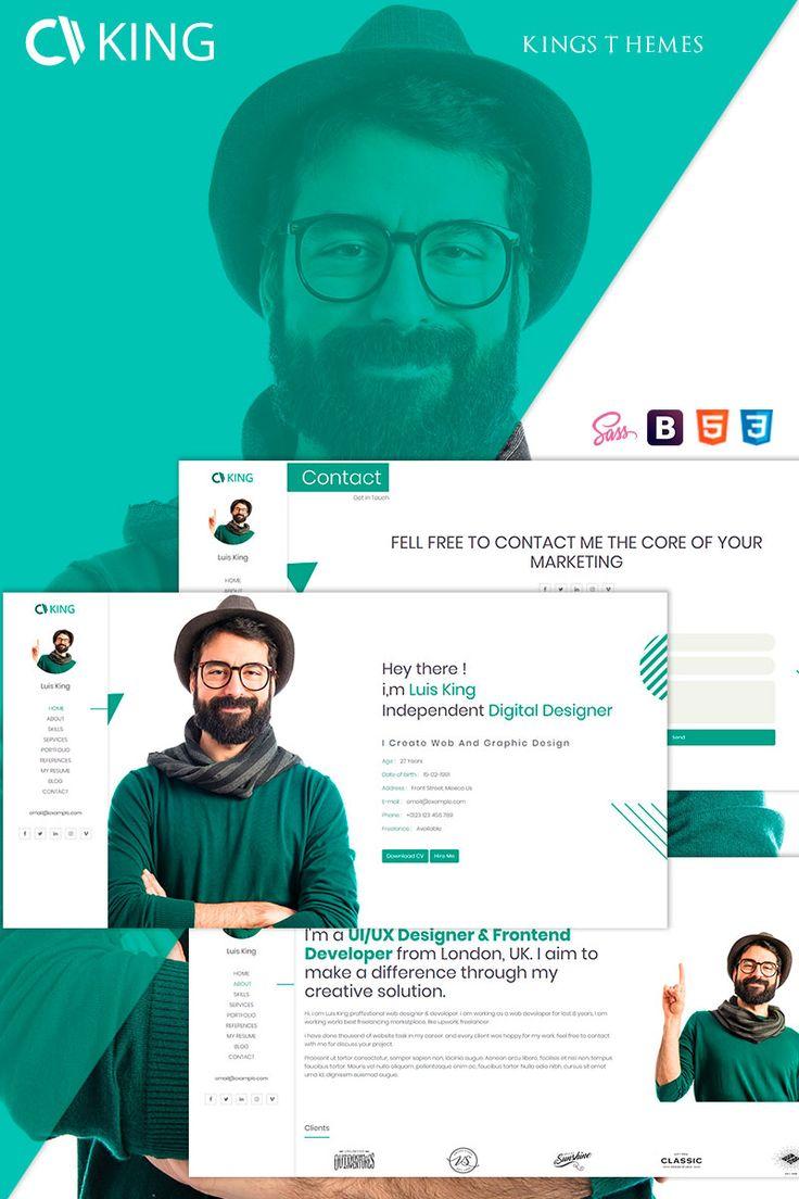 king   cv    resume    portfolio landing page