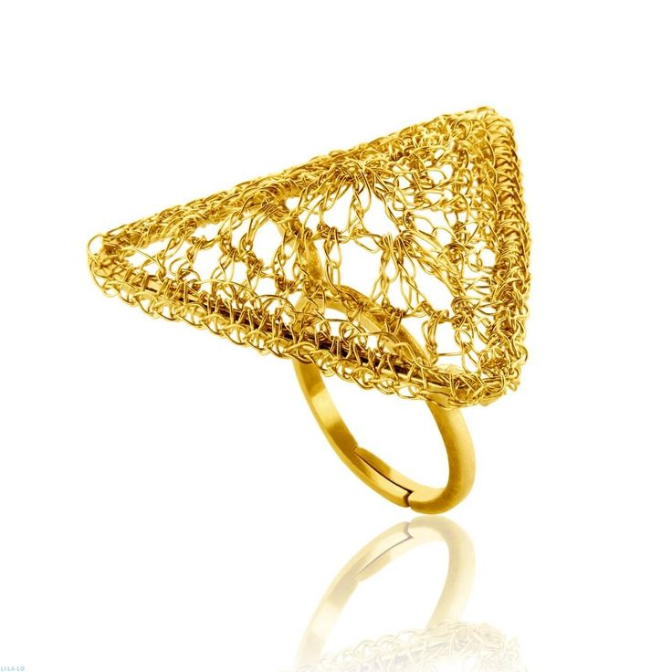 Δαχτυλίδι Αriadni Collection από επιχρυσωμένο ασήμι 925  χειροποίητο