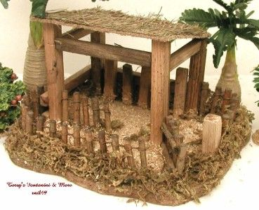 "how to display fontanini angels | Fontanini Italy 5"" Sheep Shelter Nativity Village 2007 Accessory 54625 ..."