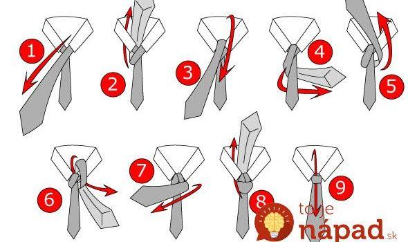 kravata - 18 způsobů vázání