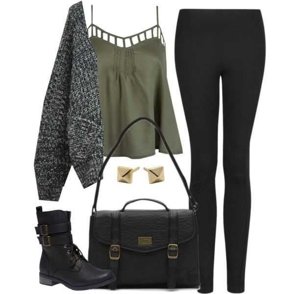 Edgy Hanna Marin inspired outfit with black leggings by liarsstyle on Polyvore