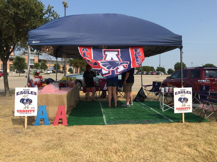 2015 Allen Eagle Football tailgating with Chandeliers and fresh flowers  Thompson's and friends
