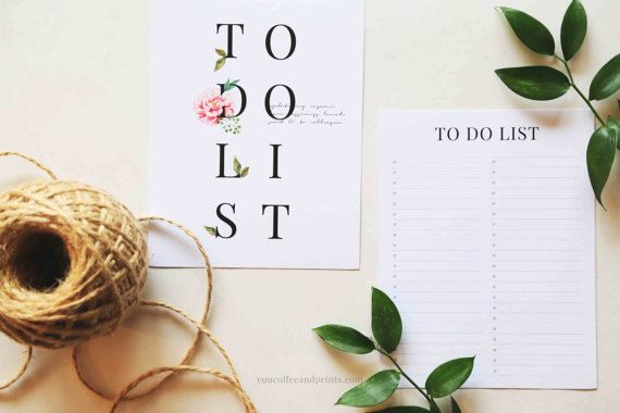 To Do List Printable To Do list Planner To by YourCoffeeAndPrints