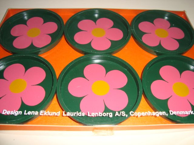 FROM: www.TRENDYenser.com  Laurids Lønborg retro coasters from the 70s and designed by Lena Eklund. #laurids #loenborg #coasters #retro #70s #lena #eklund #kitchenware