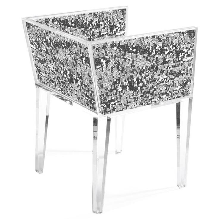 Floral Art Sequin Chair