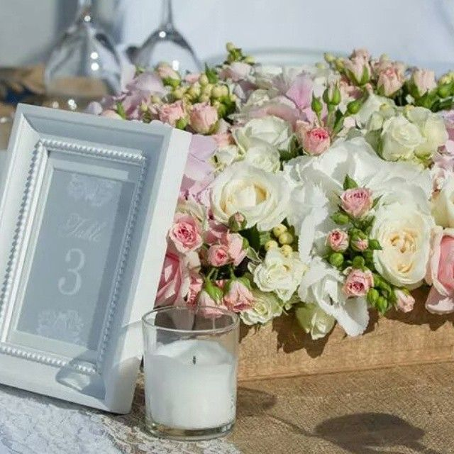 #Santorini #Wedding #Style #Decoration #Inspiration #Candles and #Flowers Photo credits:@santoweddings