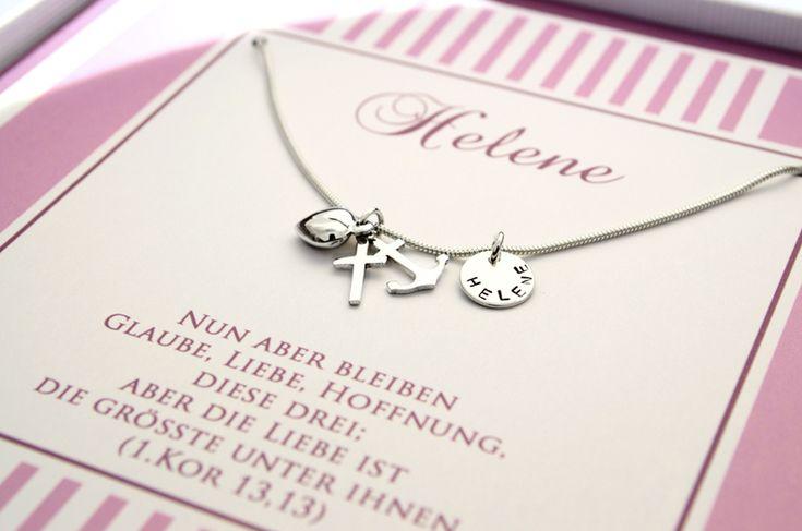 Namensketten - 925 Silber Taufkette ♥ Glaube Liebe Hoffnung ♥ - ein Designerstück von Bloomgart bei DaWanda