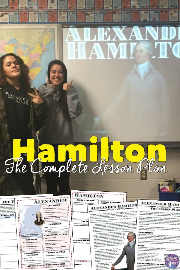 Awesome lesson plan for Hamilton the Musical in US History! Includes so many great resources!