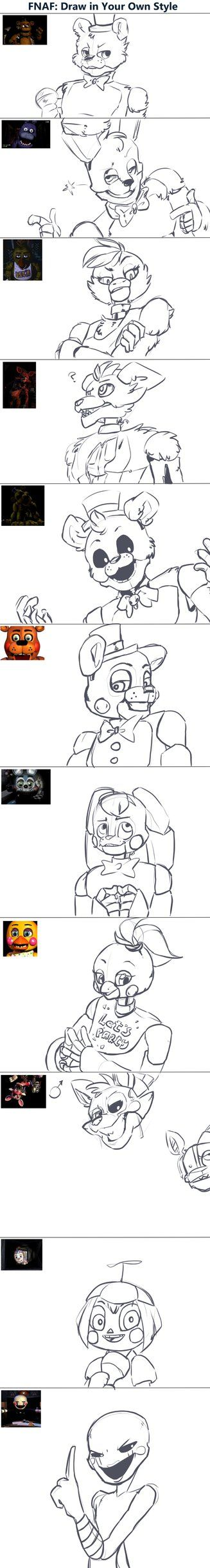 FNaF related art...but where's the full drawing of Mangle?