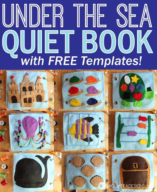 under the sea quiet book part 3 - Free Toddler Books