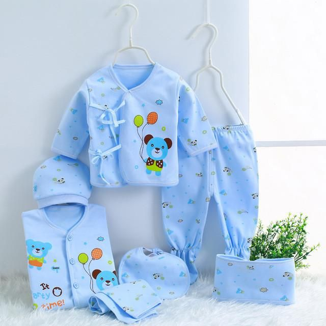 2017 autumn newborn clothing Fashion cotton infant underwear baby boys girls suits set 7pices & 5 pieces clothes for 0-3M - Best price in 10minus